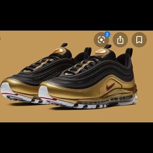 Nike 97's gold and black for women 7.5